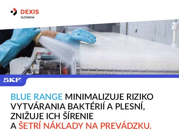 SKF BLUE RANGE minimalizuje riziko vytvárania baktérií a plesní